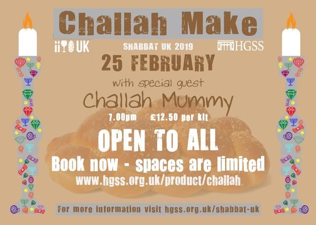 Shabbat UK HGSS Challah Make @ HGSS | Holmer Green | England | United Kingdom