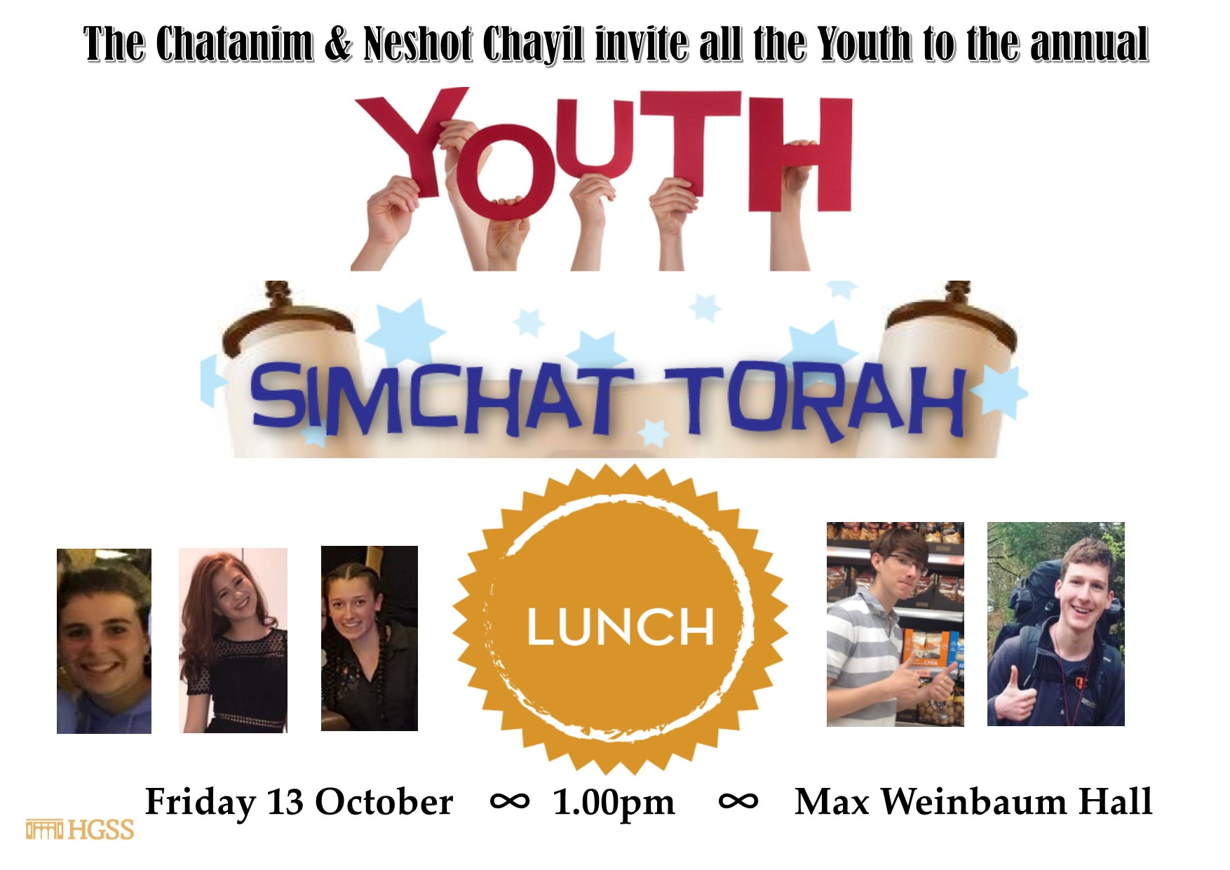 Youth Simchat Torah Lunch @ Landy Gallery, HGSS