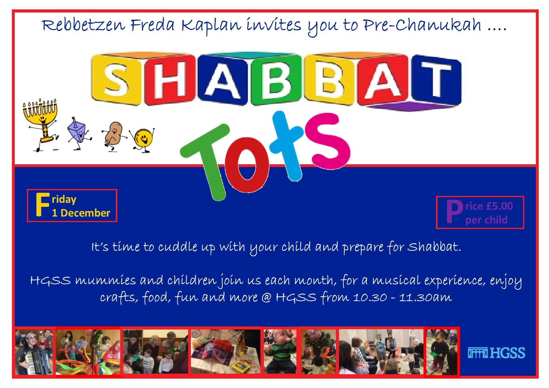 Shabbat Tots (Chanukah) @ Max Weinbaum Hall