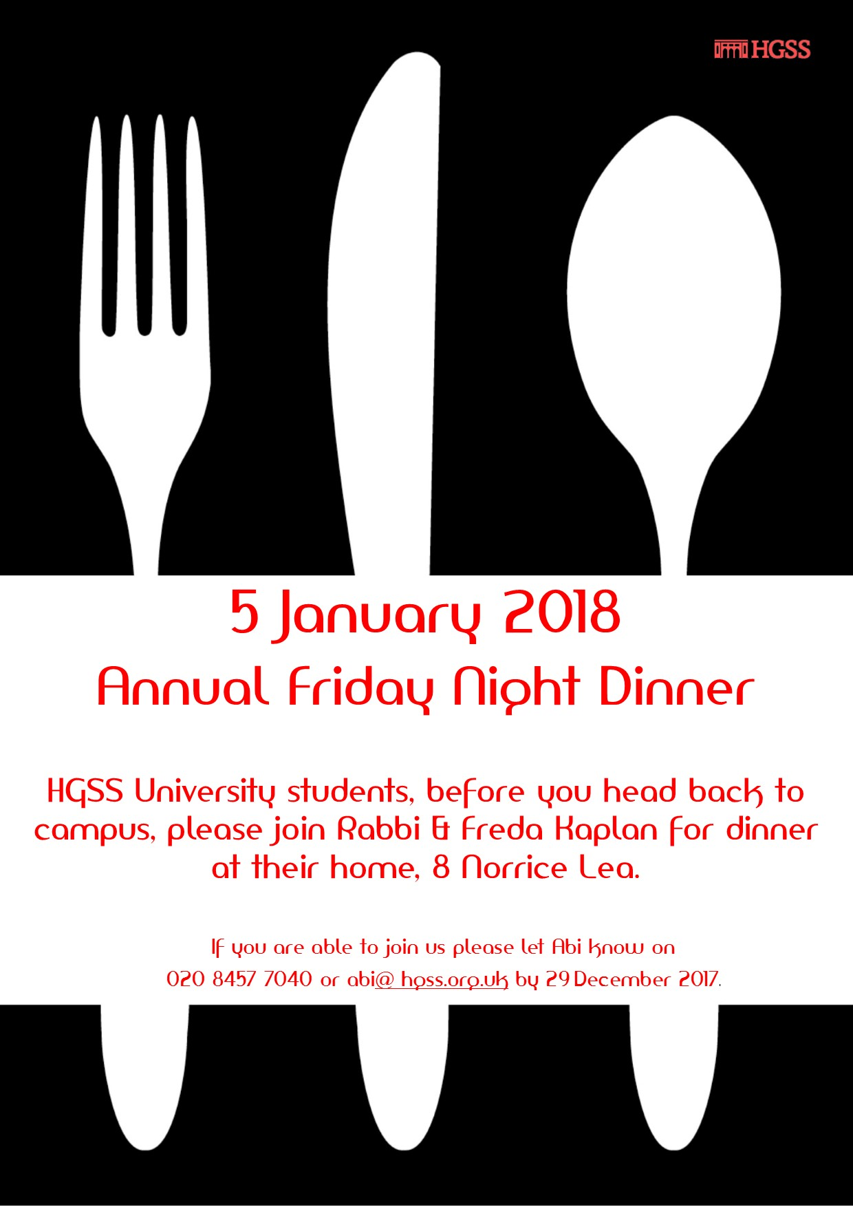 Student & Young Adult Dinner @ Rabbi's House