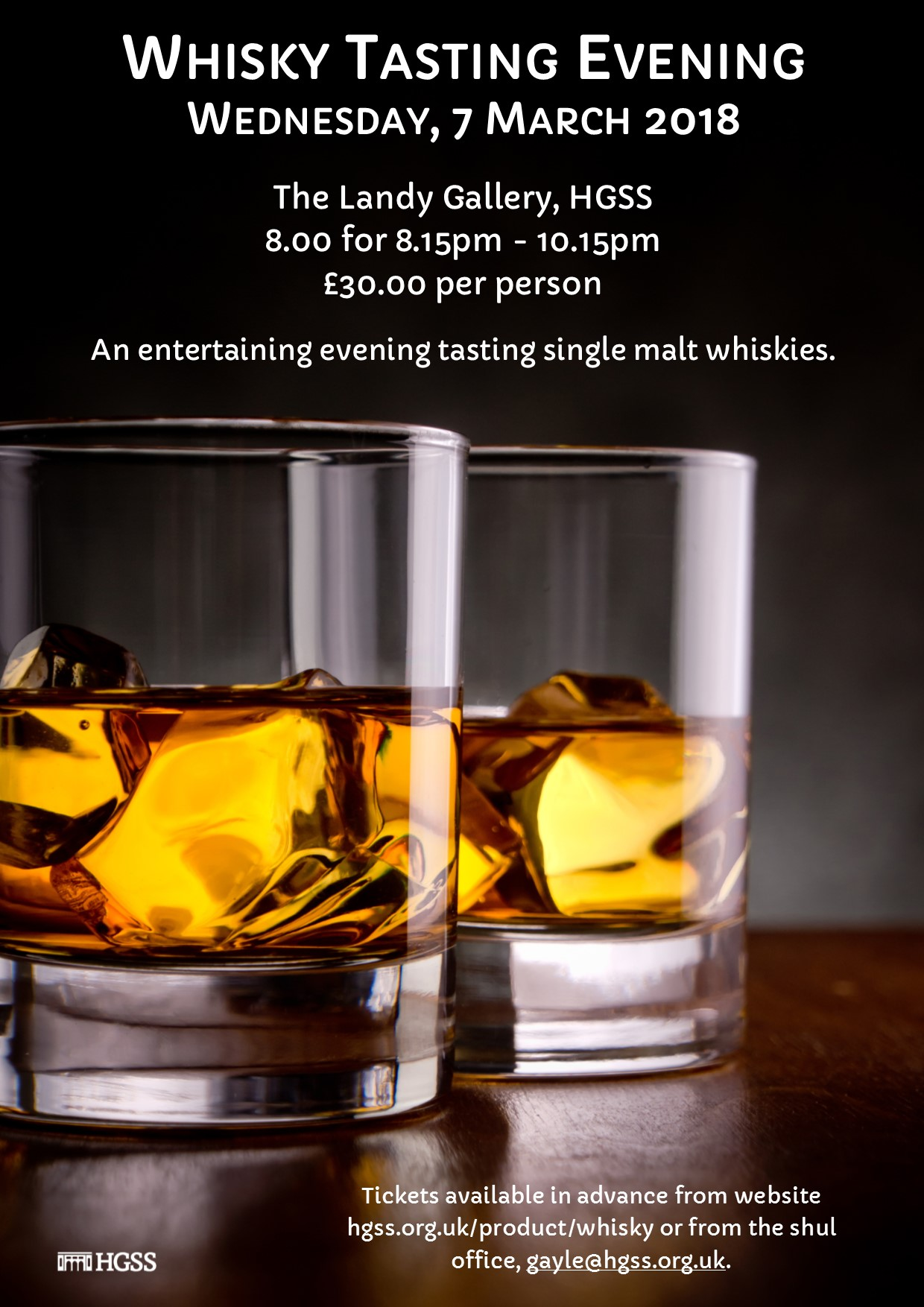 HGSS Whisky Tasting Evening @ The Landy Gallery