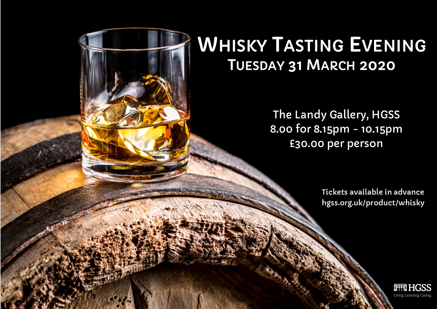 HGSS Whisky Tasting Evening - Postponed @ The Landy Gallery
