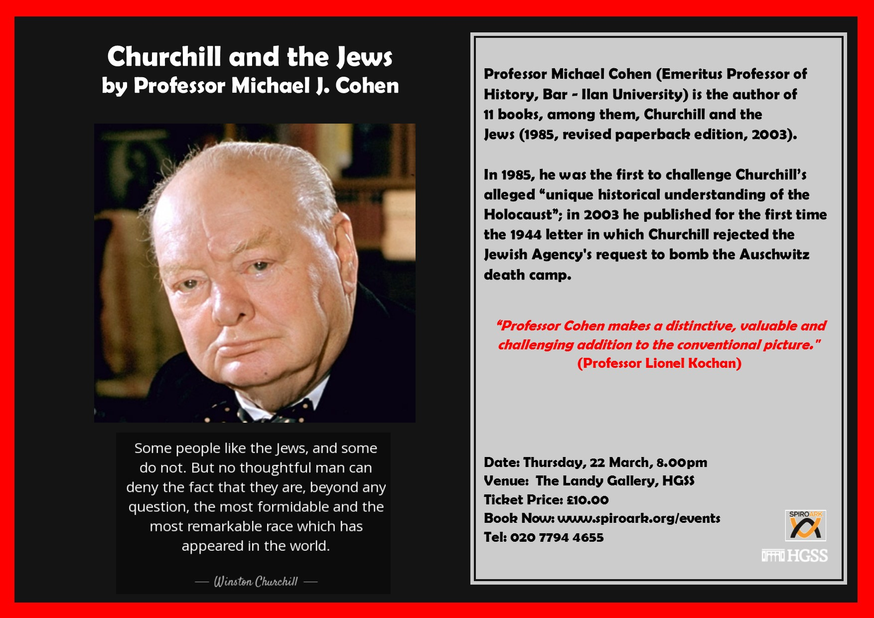 Spiro Ark – Churchill and the Jews @ The Landy Gallery