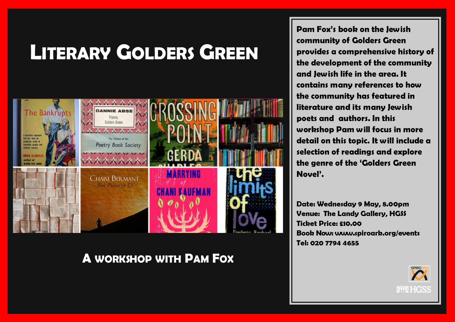 Spiro Ark - Literary Golders Green @ The Landy Gallery