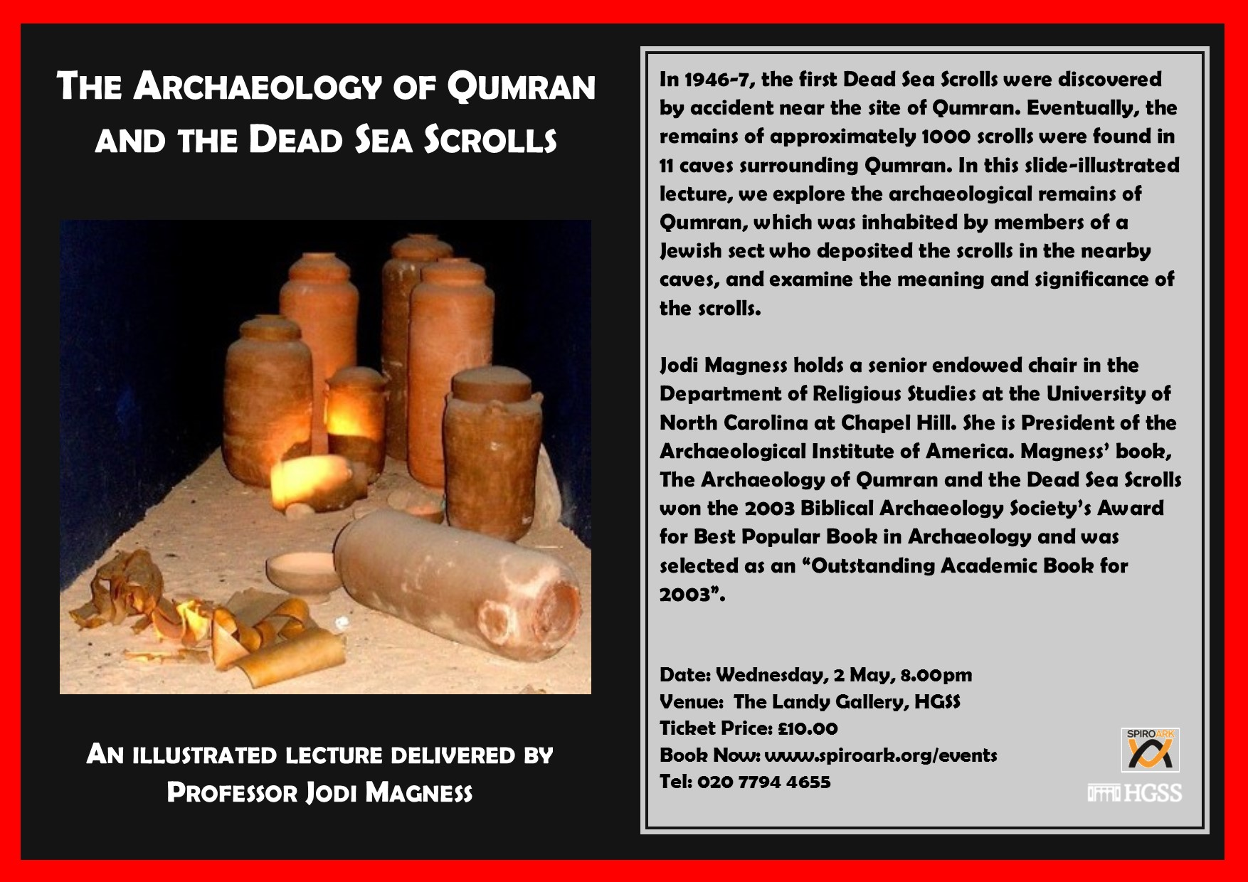 Spiro Ark - The archaeology of Qumran and the dead sea scrolls @ The Landy Gallery