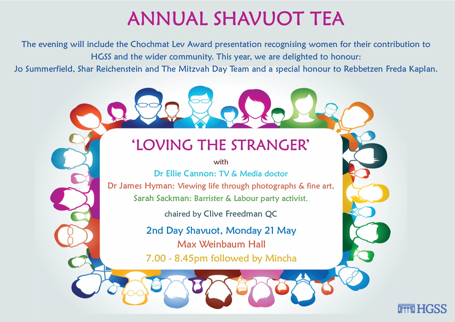 Annual Shavuot Tea @ HGSS