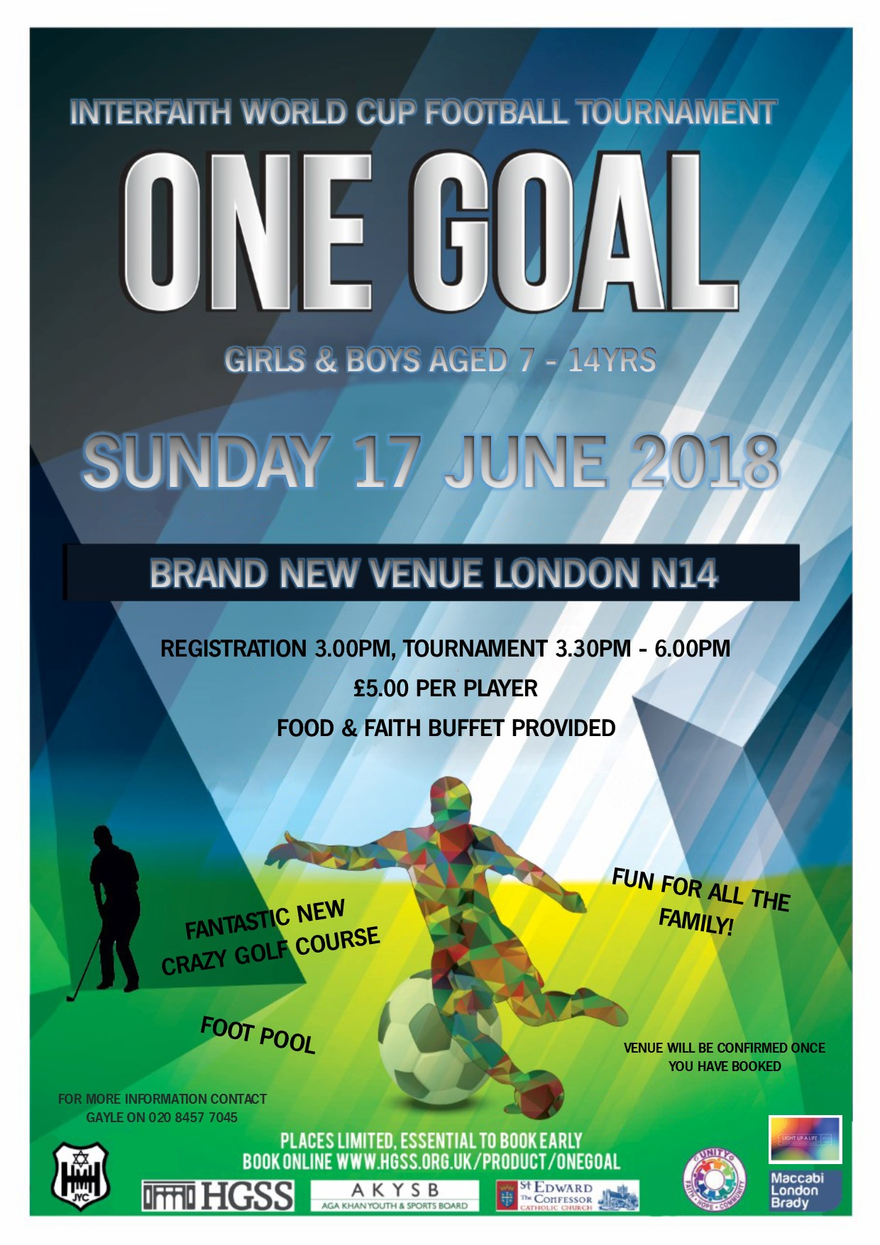 One Goal Interfaith Football Tournament @ England | United Kingdom