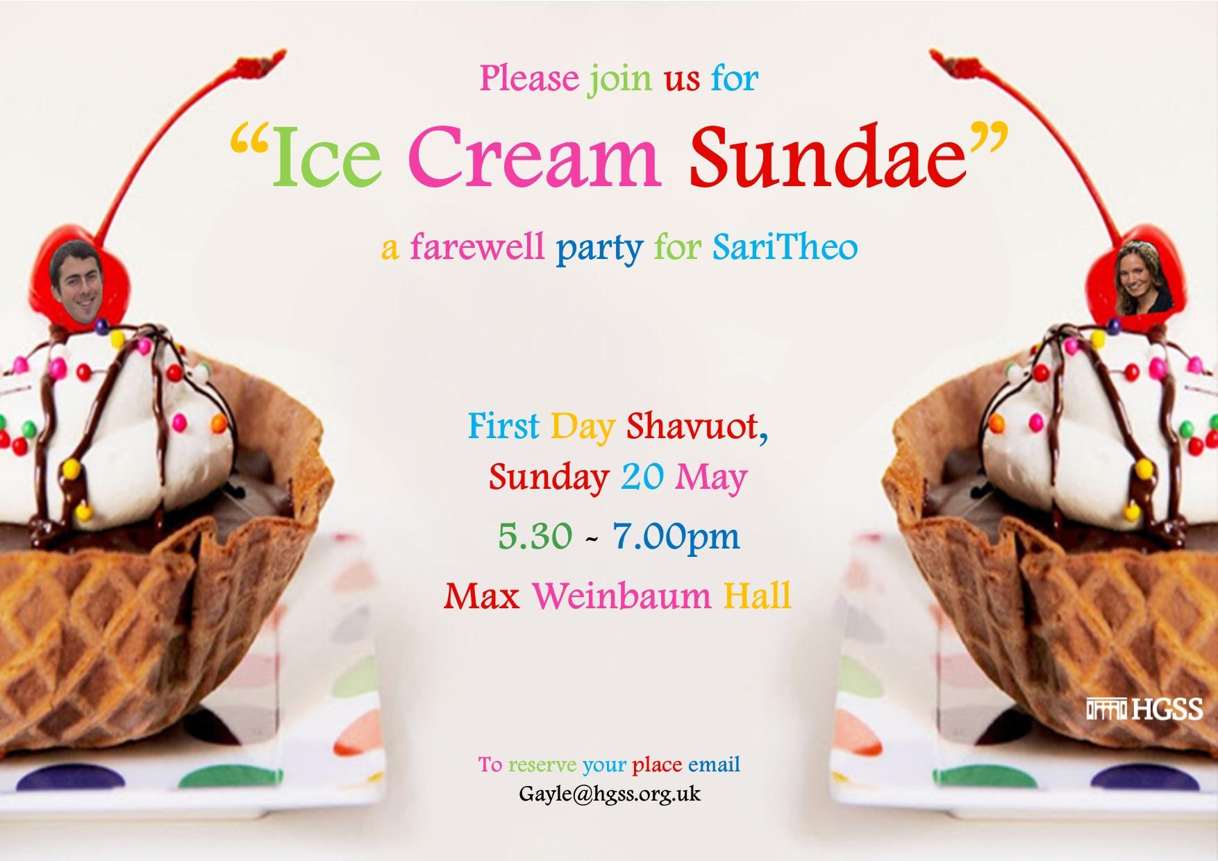 Ice Cream Sundae @ Max Weinbaum Hall