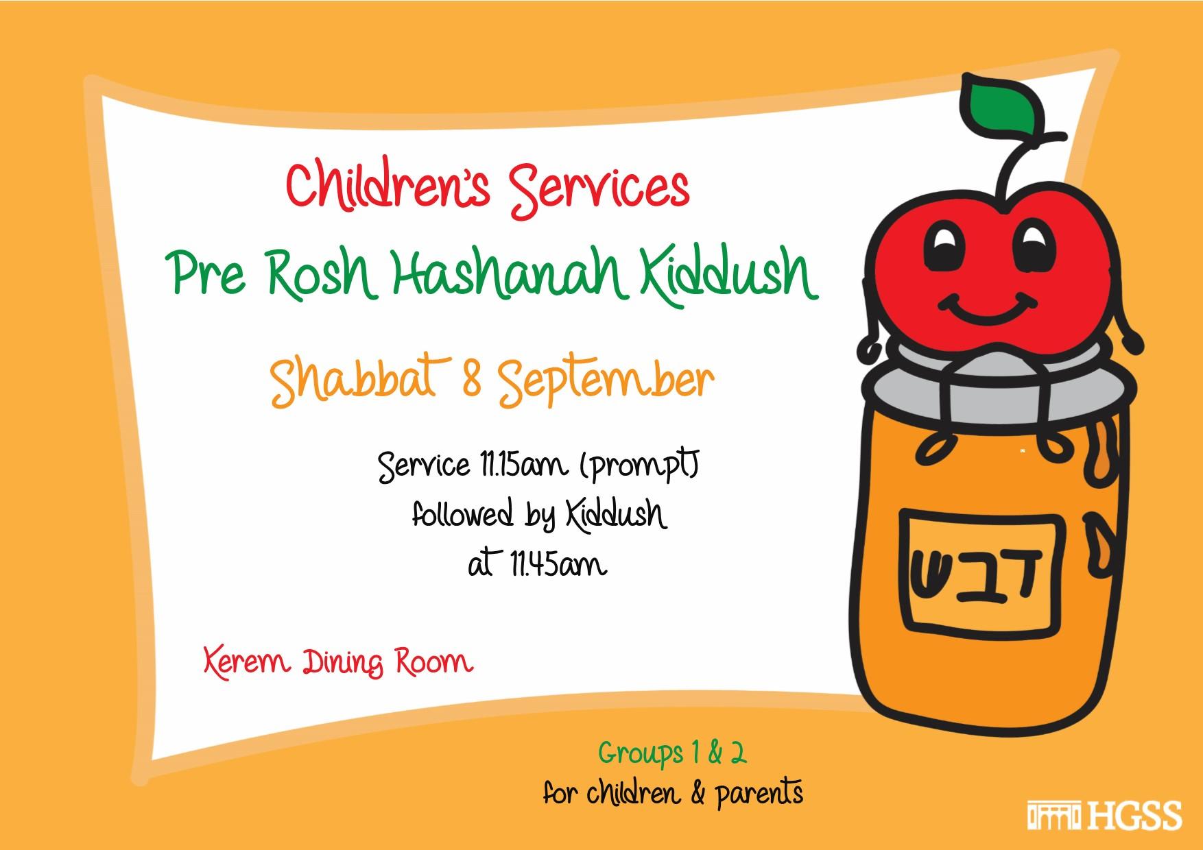 Children's Services Rosh Hashanah Kiddush @ HGSS | Holmer Green | England | United Kingdom