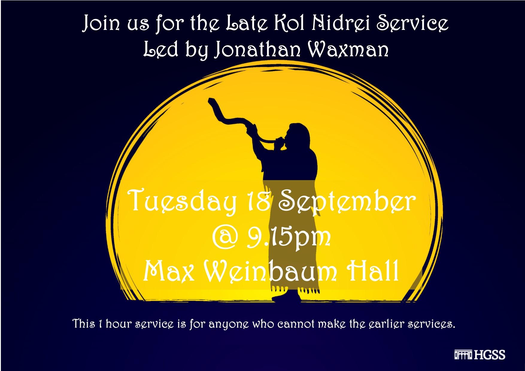 Late Kol Nidrei Service @ Max Weinbaum Hall