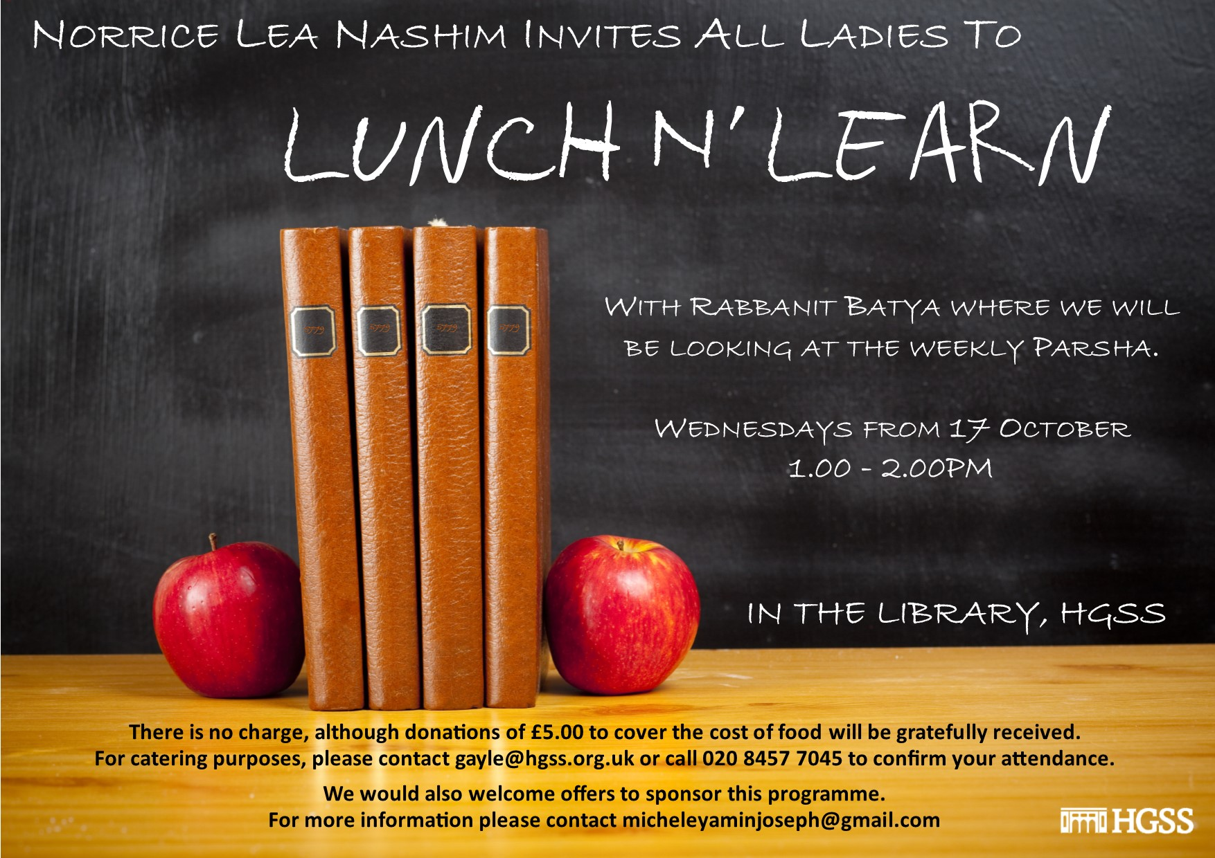 Ladies Lunch n Learn @ The Library, HGSS