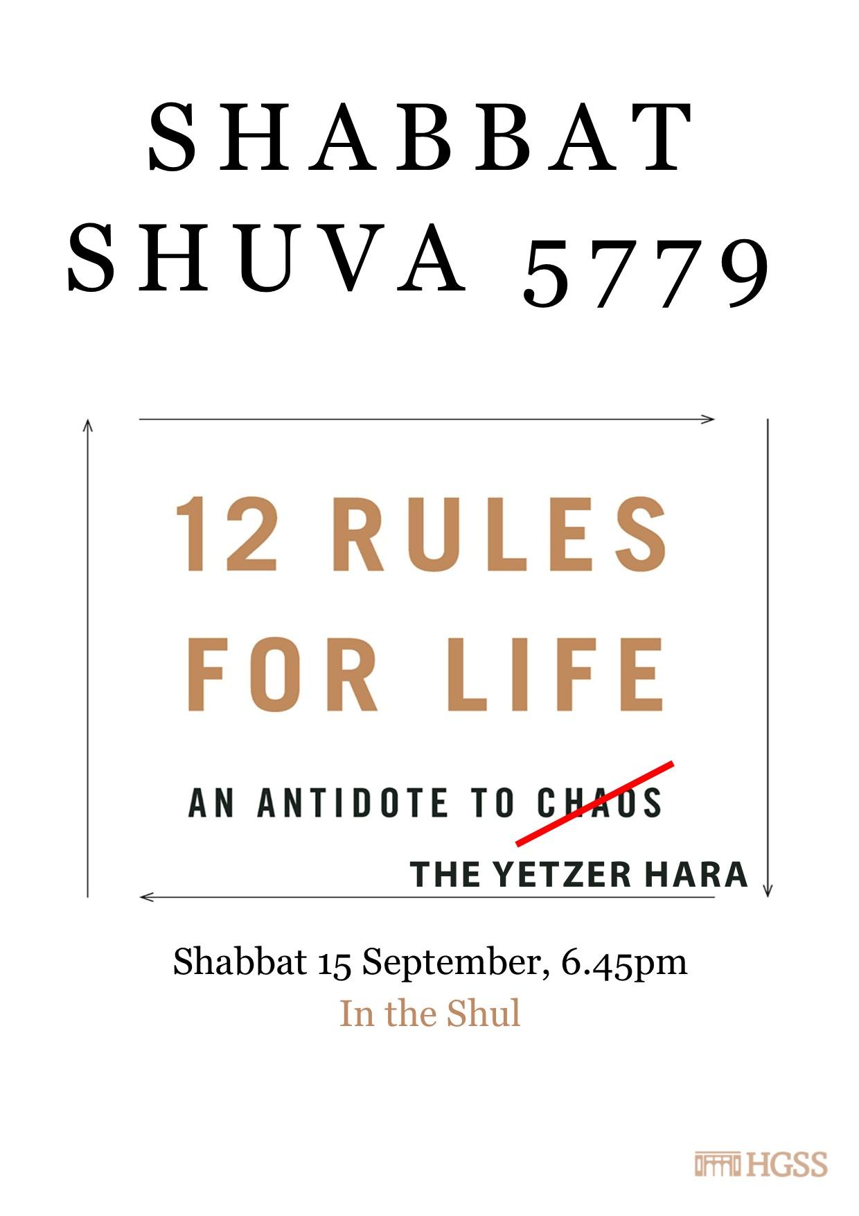 Shabbat Shuva @ Jewish Holidays