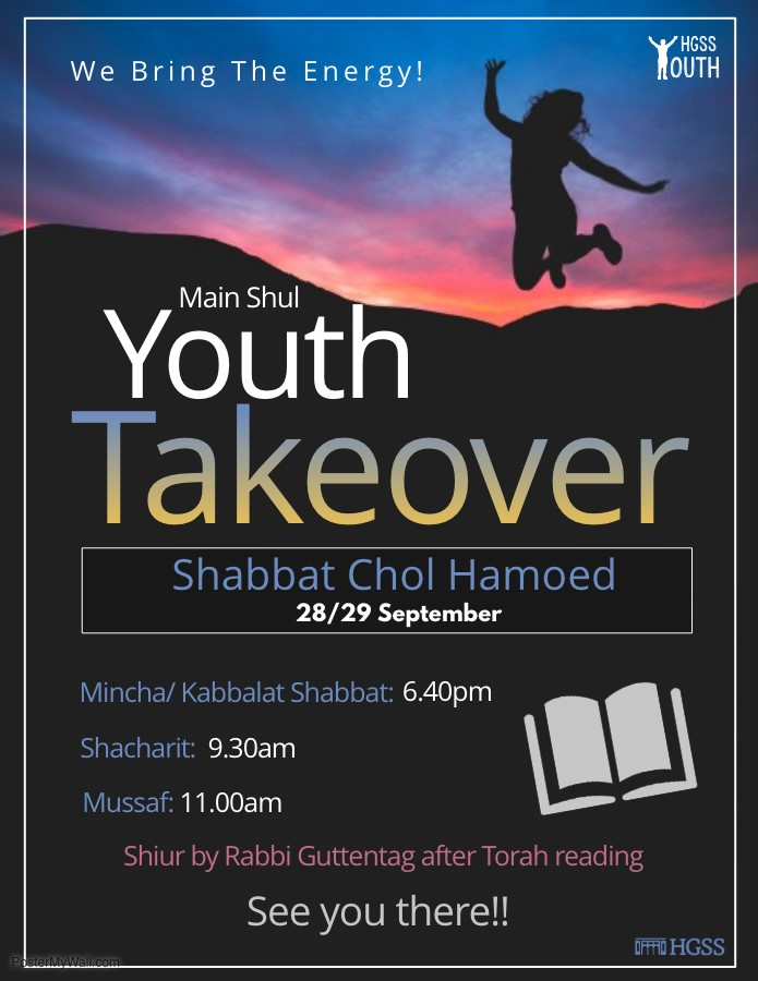 Youth Takeover Shabbat @ HGSS