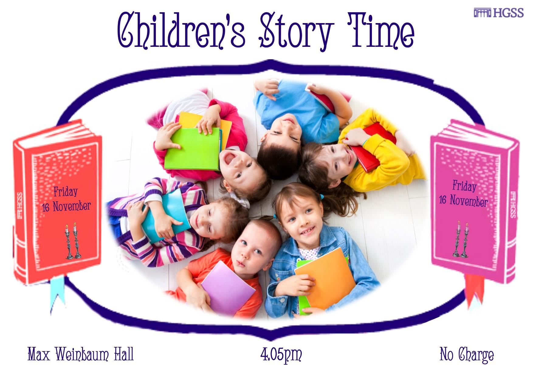 Children's Story Time @ Max Weinbaum Hall