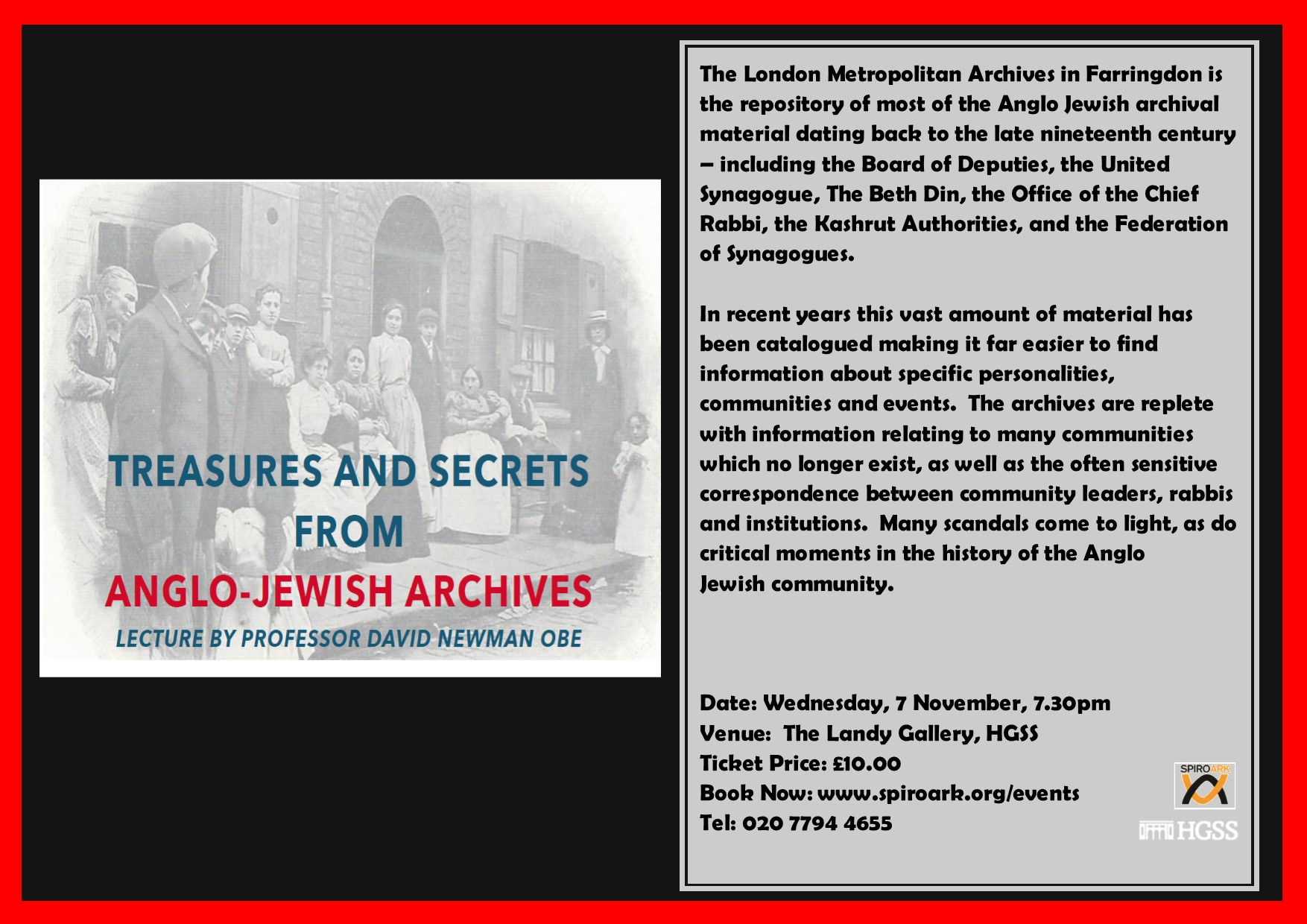 Spiro Ark - Treasures and Secrets from Anglo-Jewish Archives @ The Landy Gallery