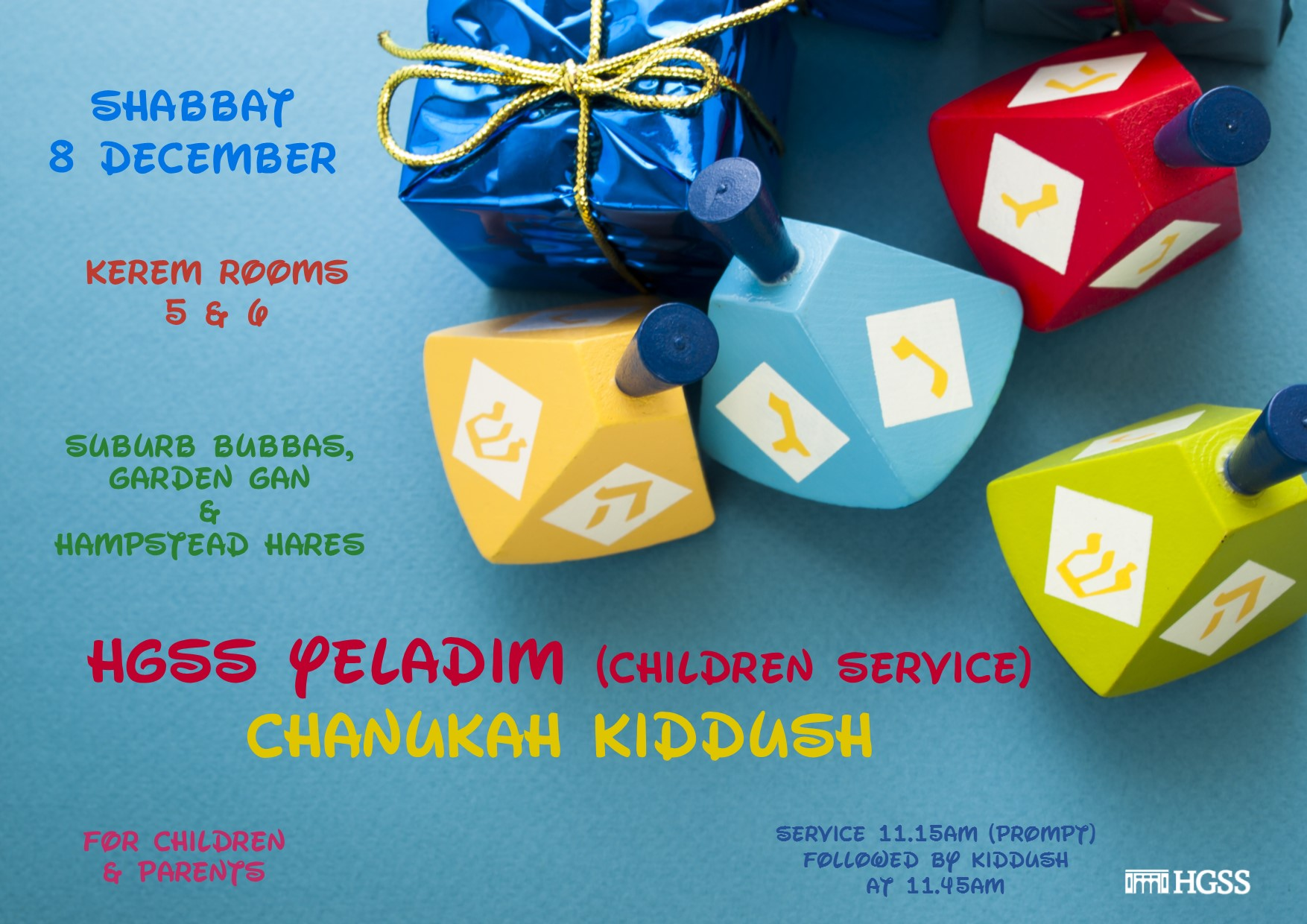 HGSS Yeladim (children service)  Chanukah Kiddush
