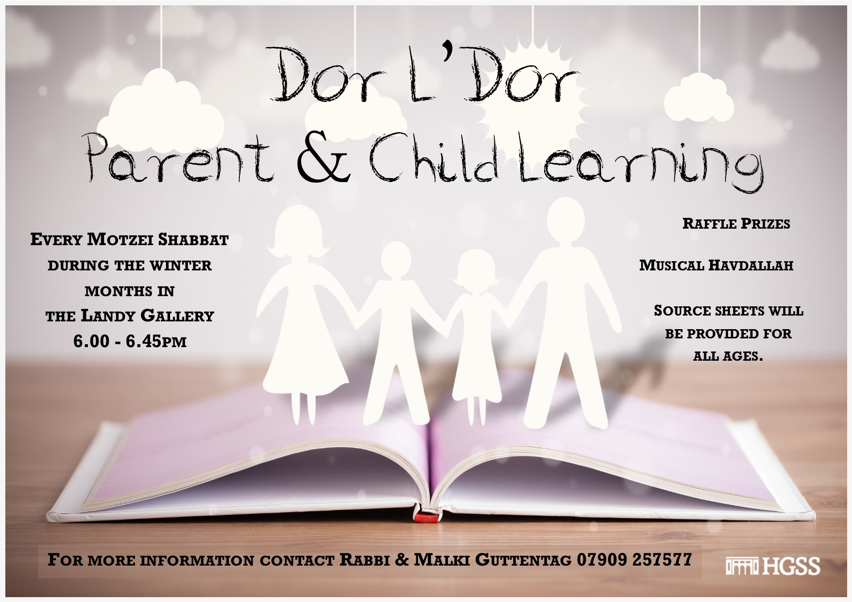 Dor L'Dor Family Parent & Child Learning @ Landy Gallery