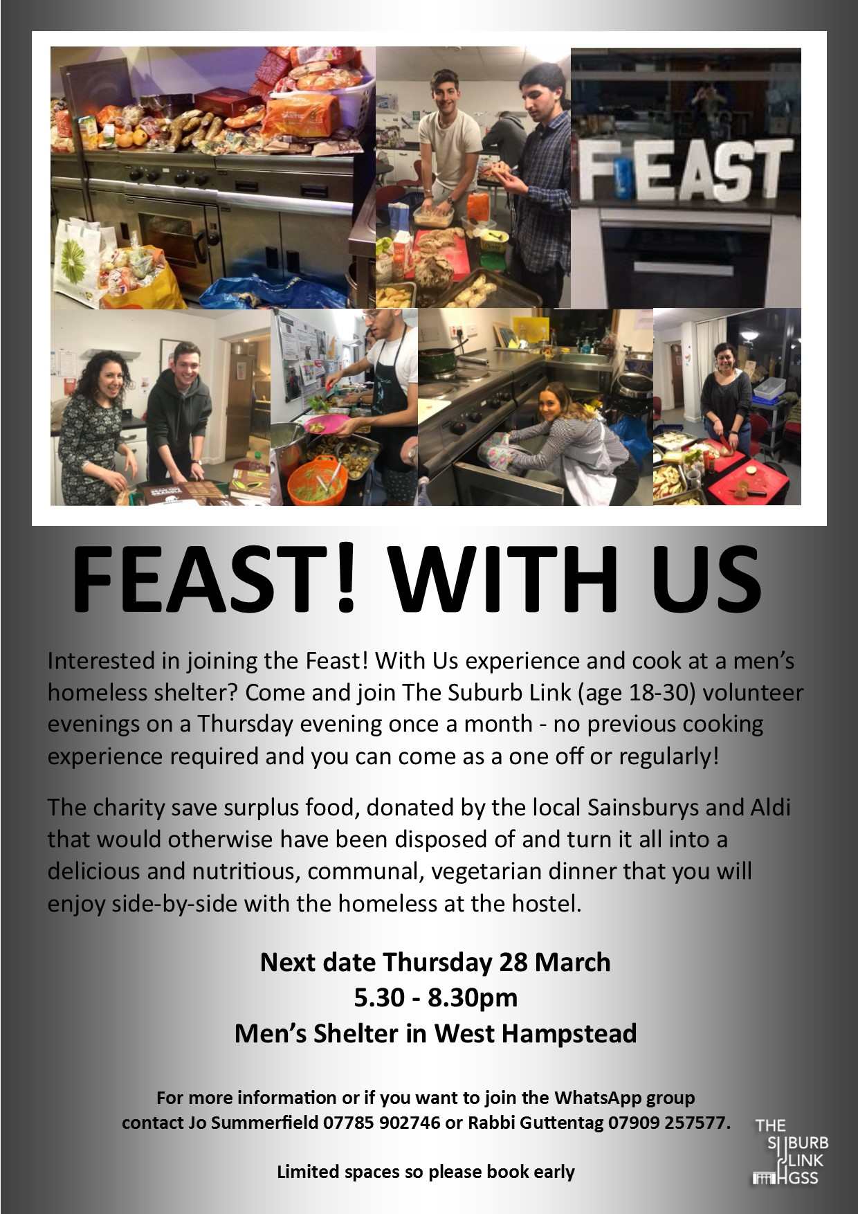 Feast! With Us @ Men's Shelter in West Hampstead | England | United Kingdom