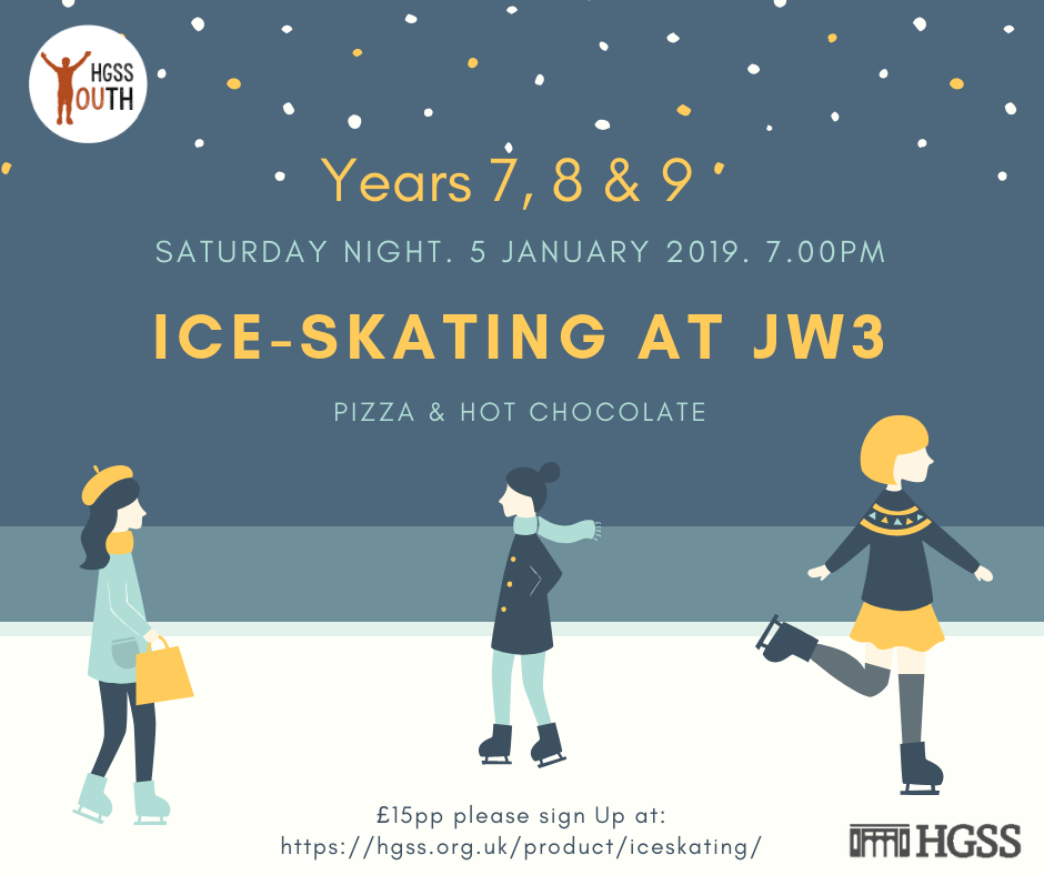 Ice - Skating for Years 7,8 & 9 @ JW3