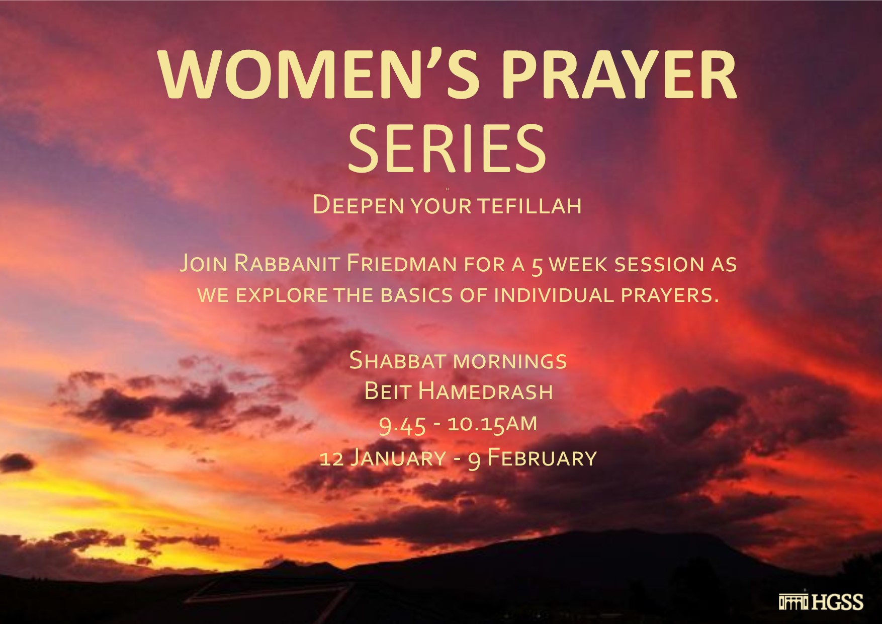 Women's Prayer Series @ HGSS