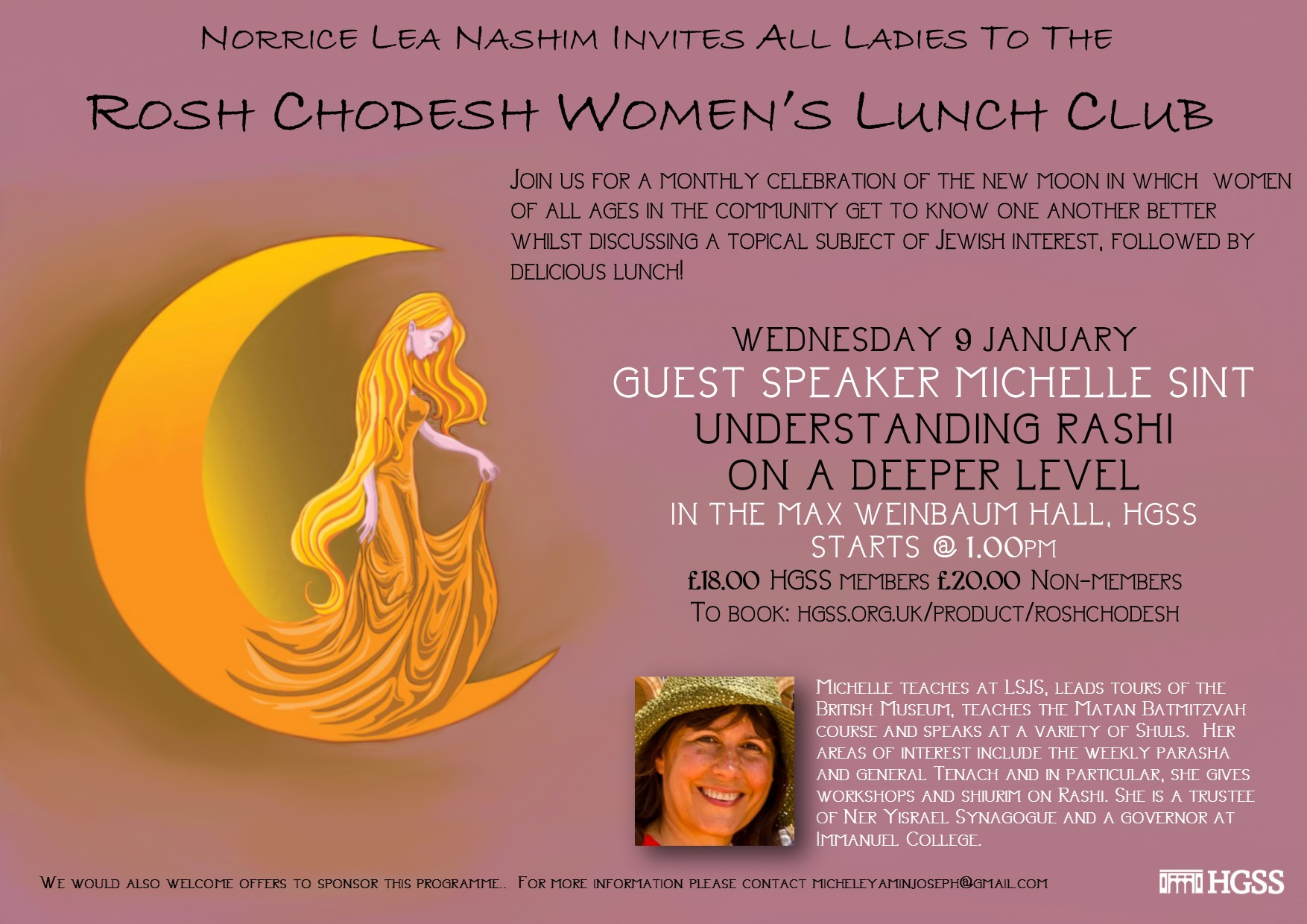 Rosh Chodesh Women's Lunch Club @ Max Weinbaum Hall