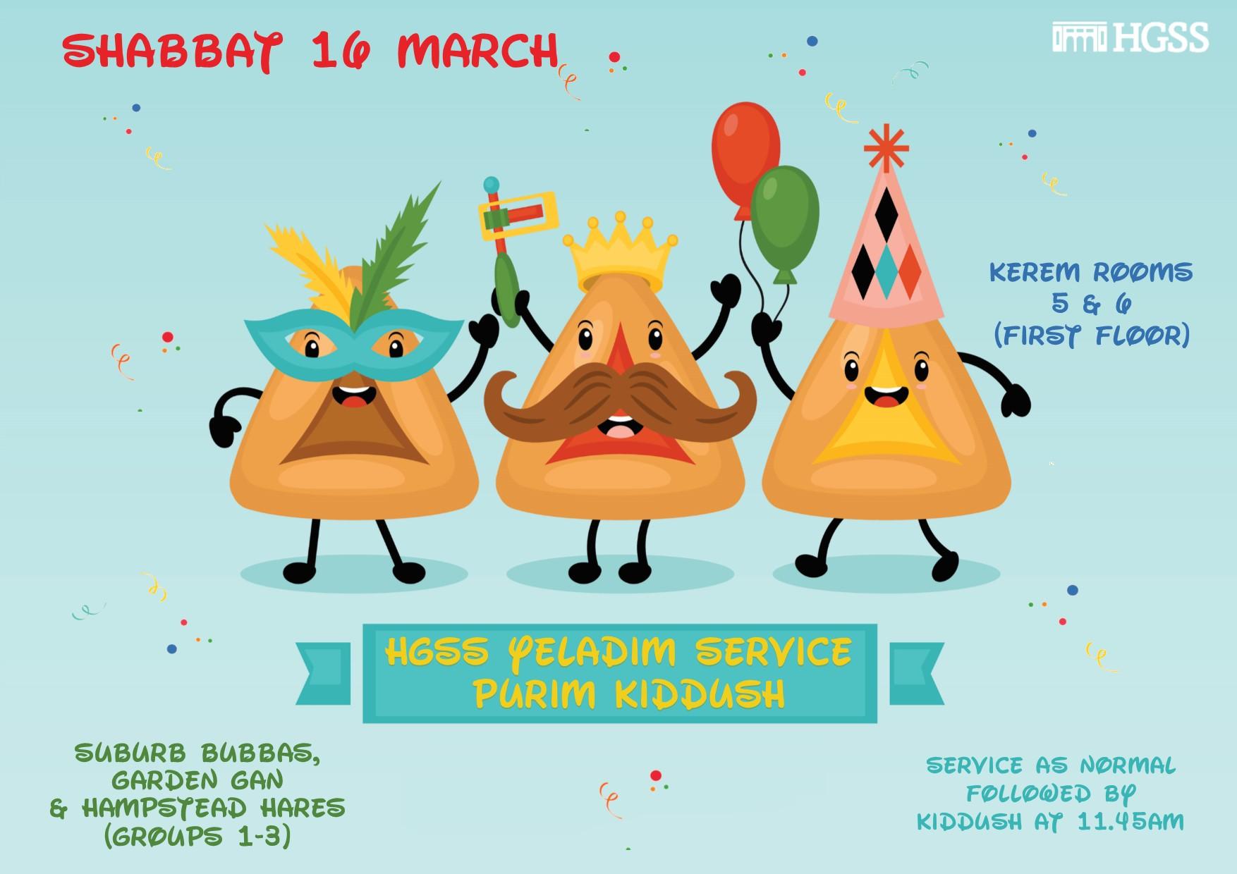 HGSS Yeladim (children service) Purim Kiddush