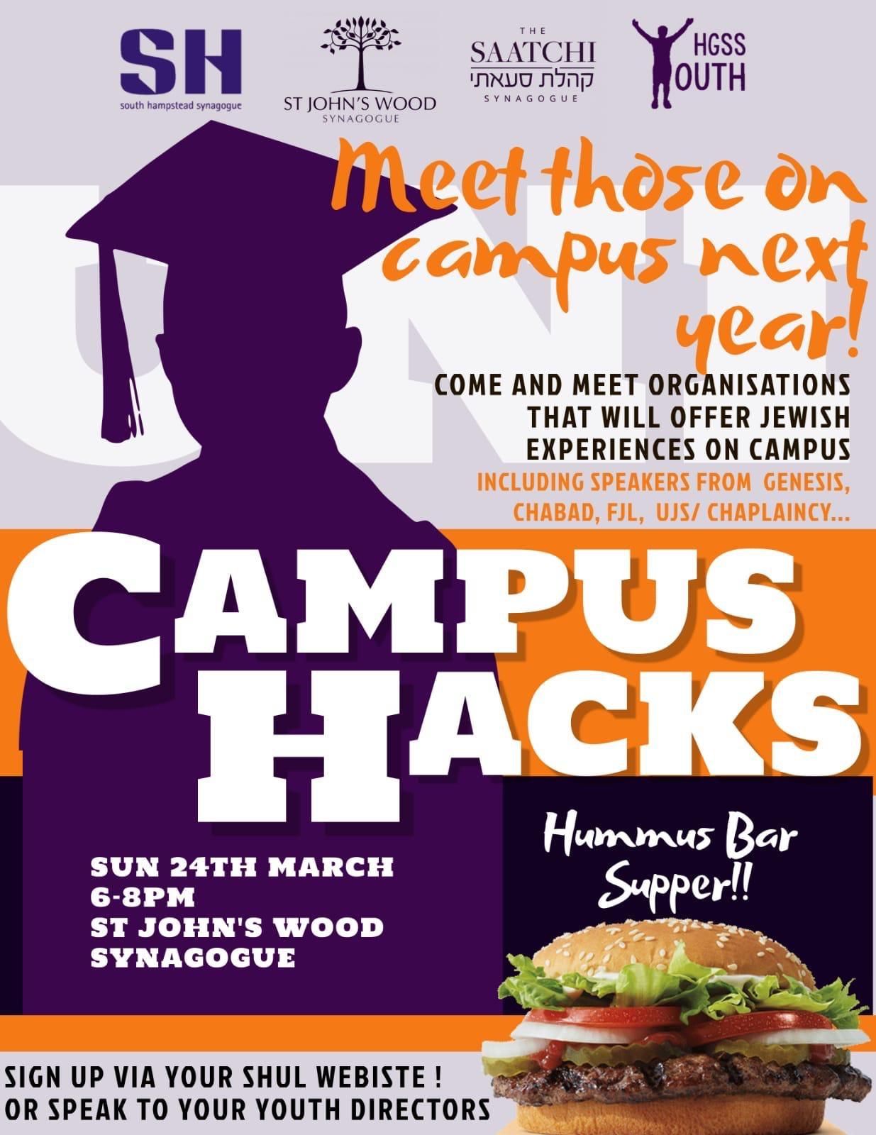 Campus Hacks @ St Johns' Wood Synagogue