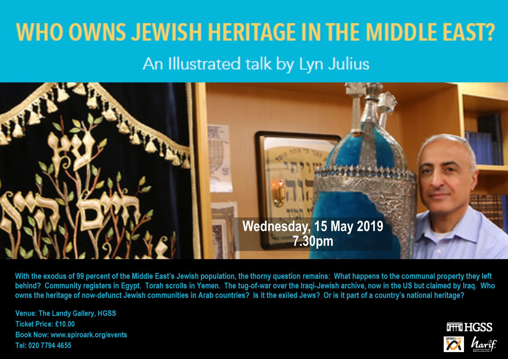 Spiro Ark - Who owns Jewish Heritage in the Middle East? @ The Landy Gallery