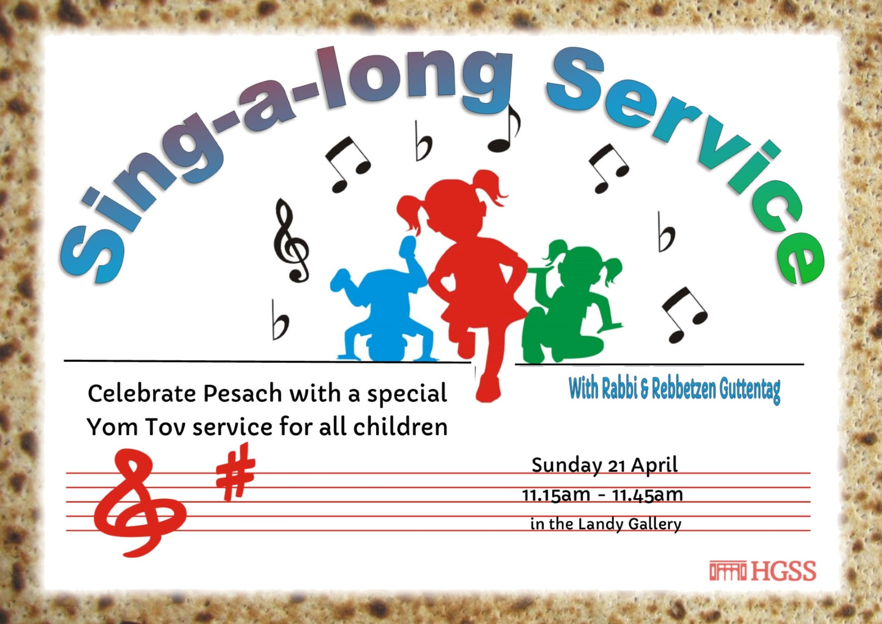 Singalong Service Pesach @ The Landy Gallery