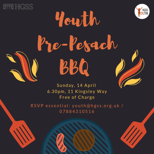 Youth Pre-Pesach BBQ