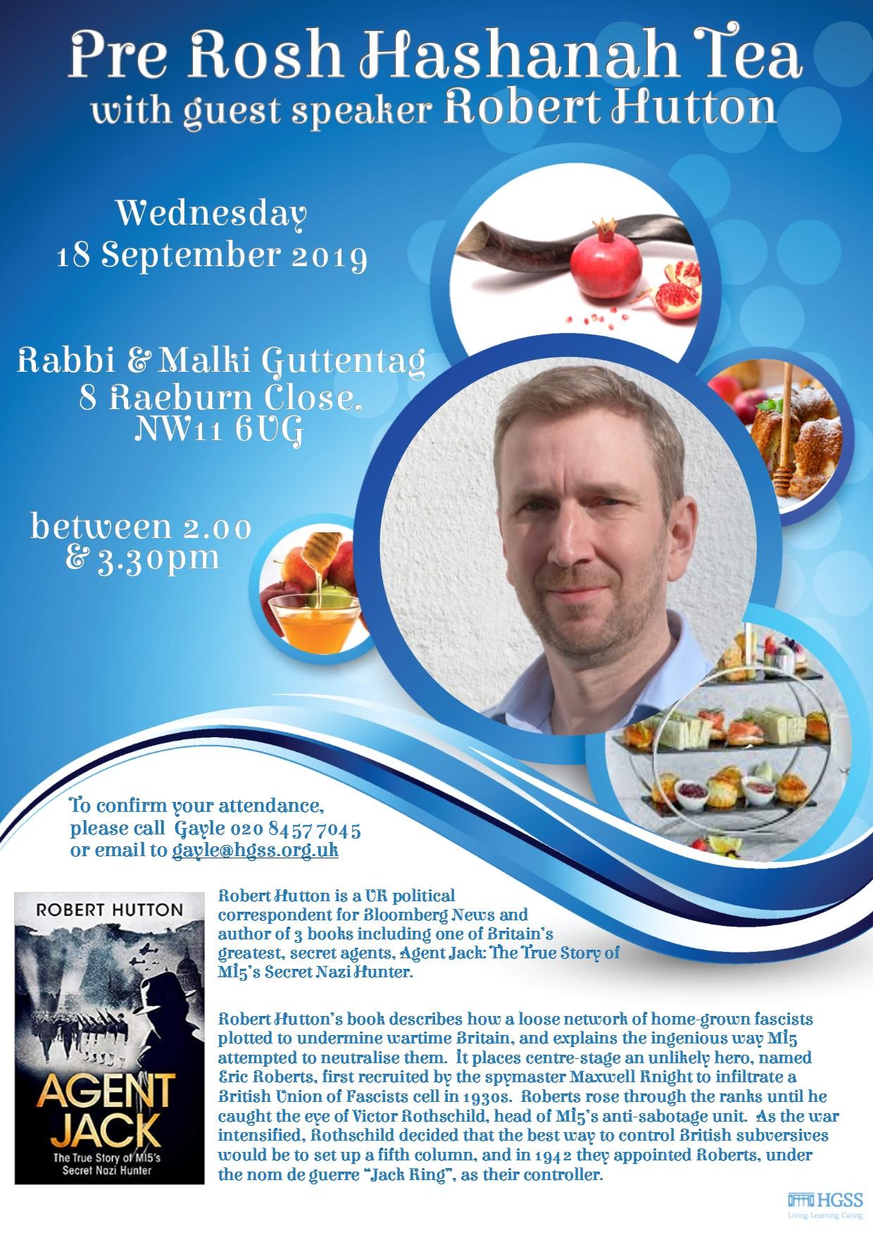 Pre Rosh Hashanah Tea @ 8 Raeburn Close, NW11 6UG