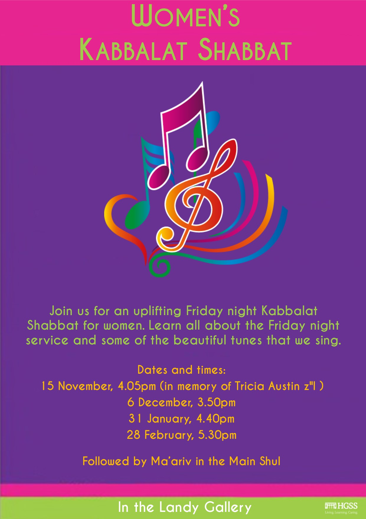 Friday Night Kabbalat Shabbat @ The Landy Gallery