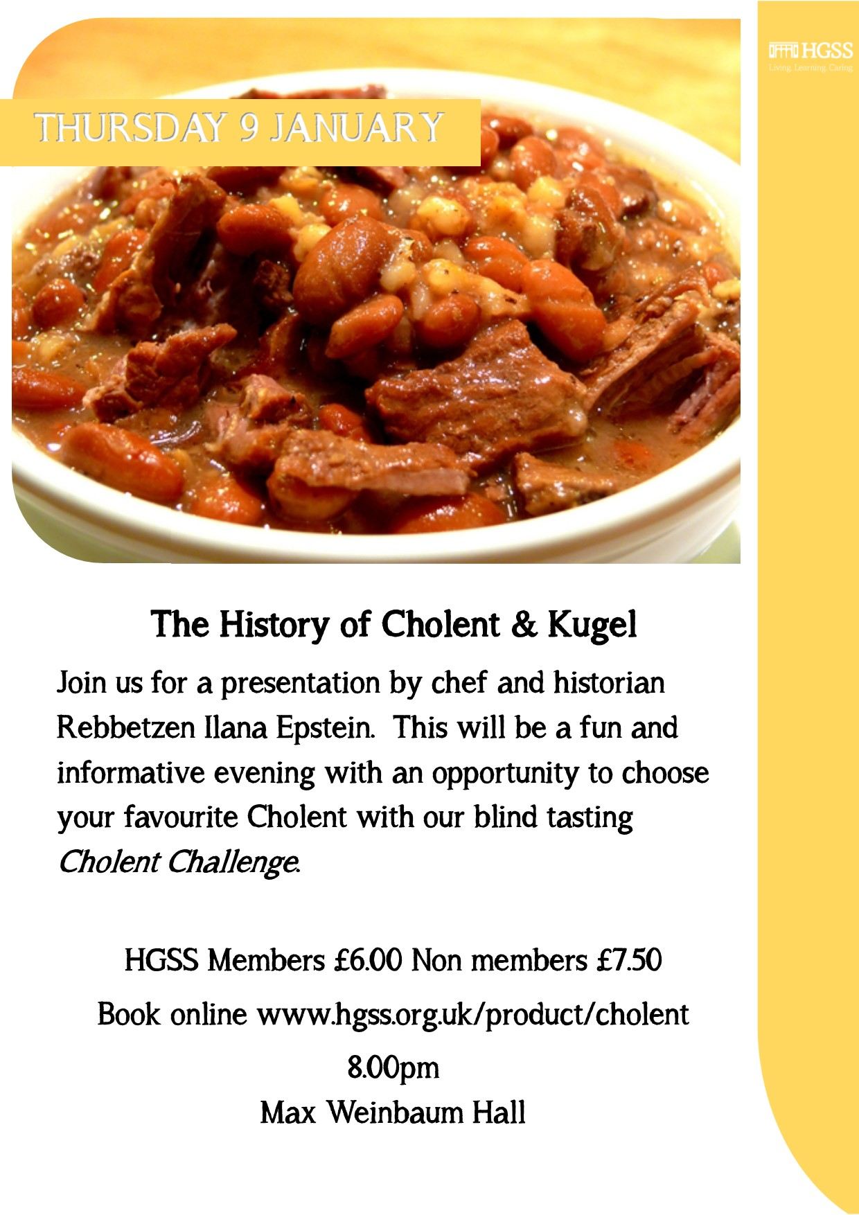 The History of Cholent & Kugel @ HGSS