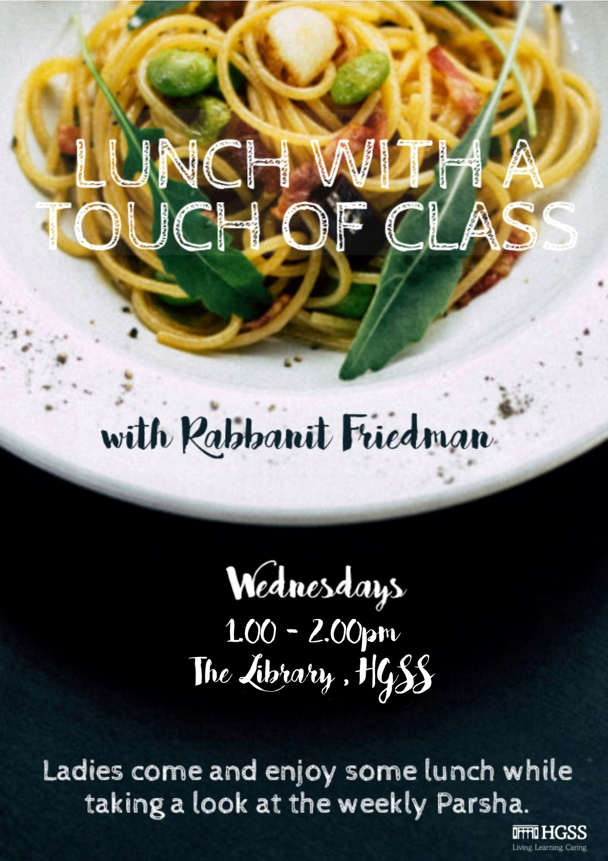 Lunch with a Touch of Class - Postponed @ The Library, HGSS