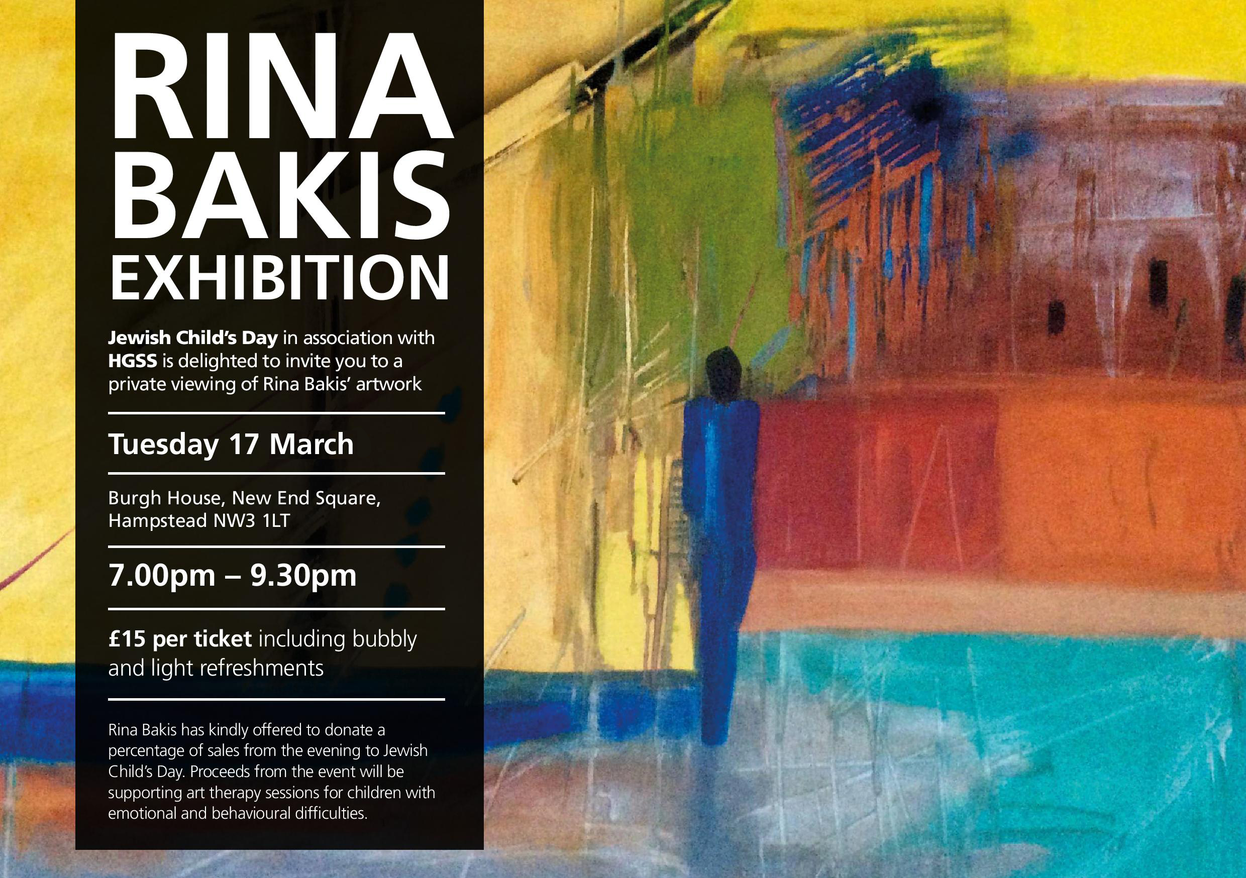 Rina Bakis Exhibition @ Hampstead
