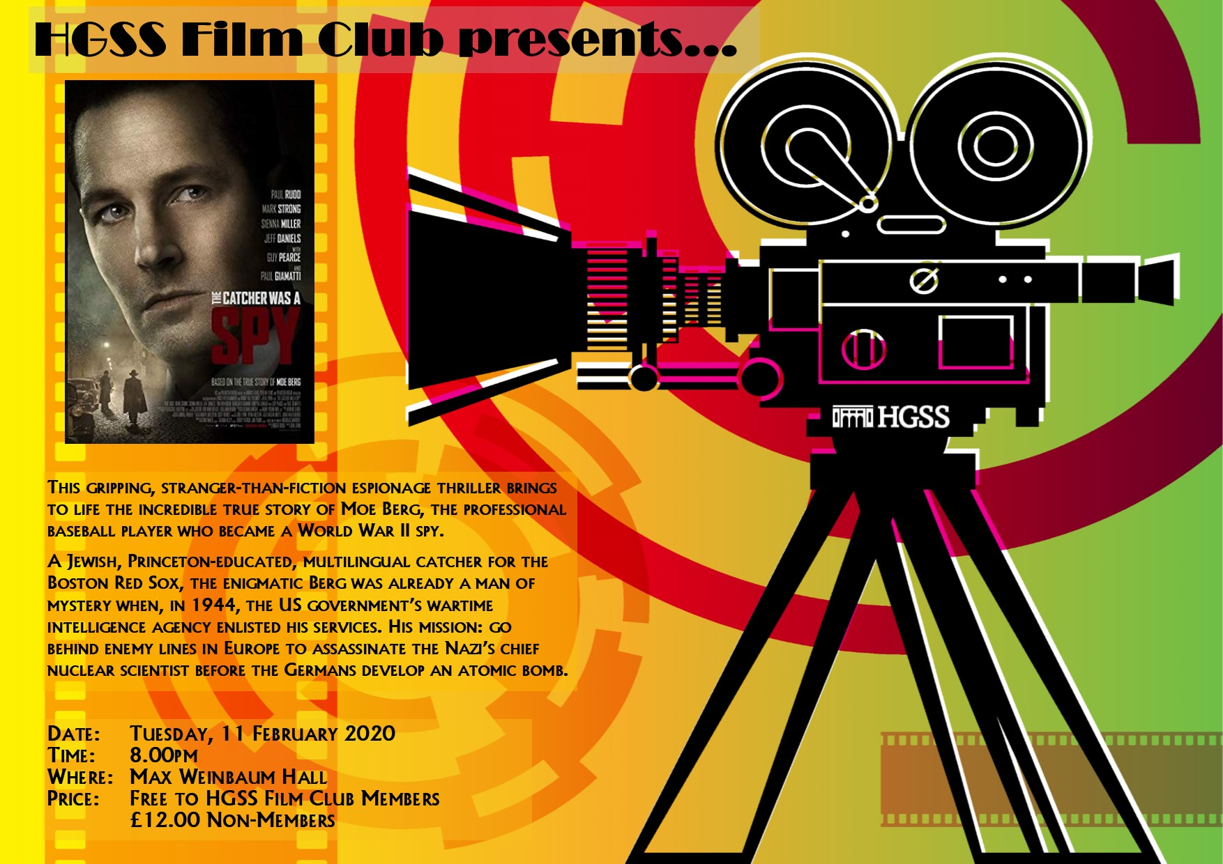HGSS Film Club @ Max Weinbaum Hall