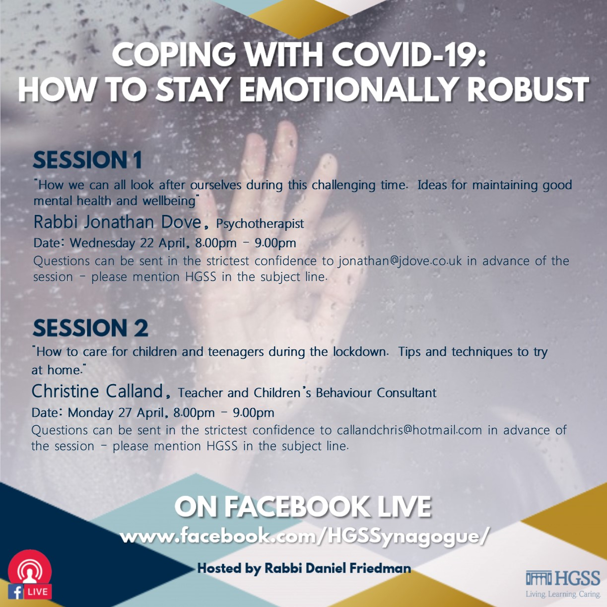 Coping with Covid-19: How to Stay Emotionally Robust @ Facebook Live