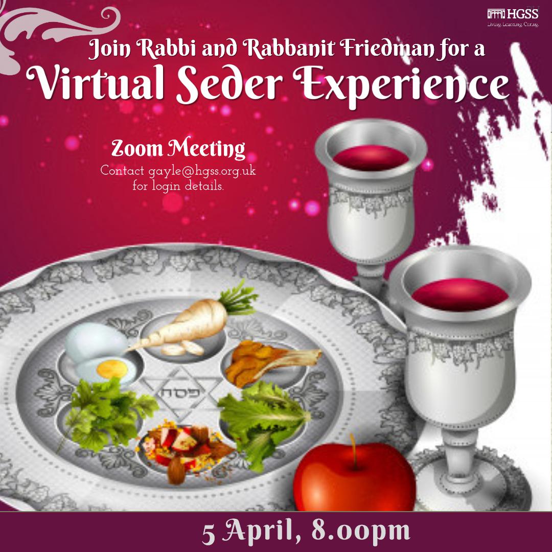 Virtual Seder Experience @ Online