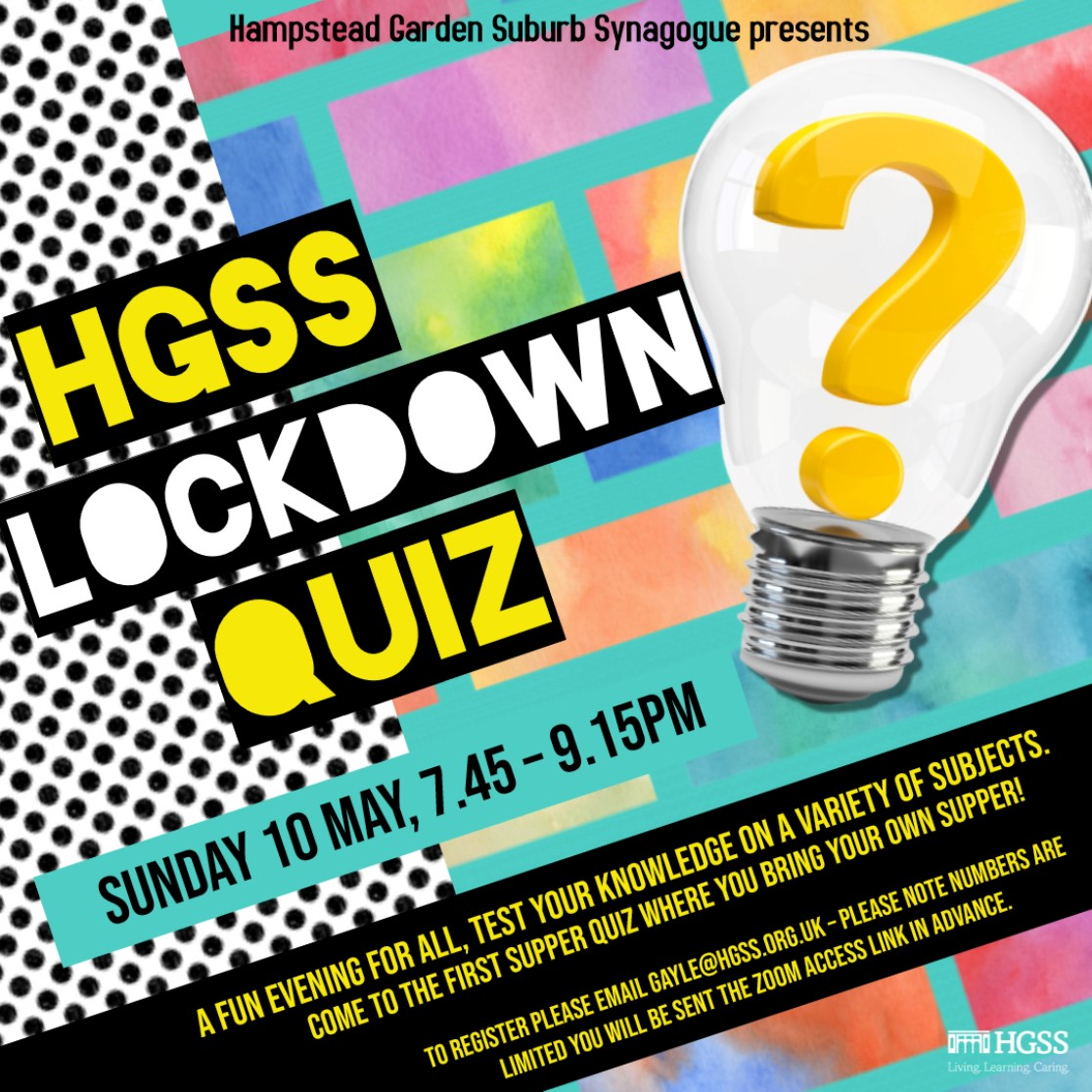 HGSS Lockdown Quiz @ Online (Contact Gayle for link)
