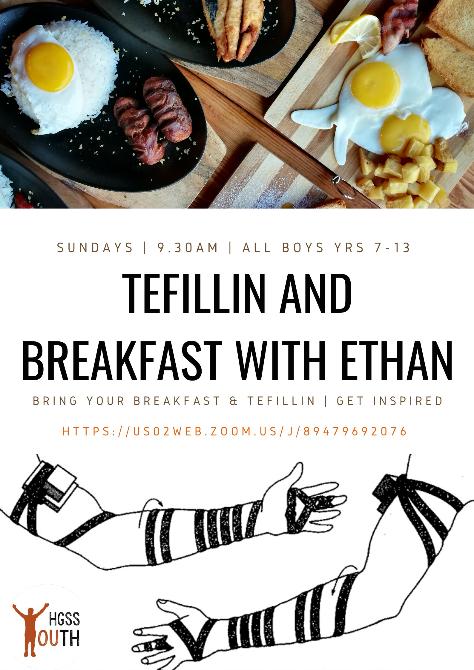 Tefillin and Breakfast @ Online