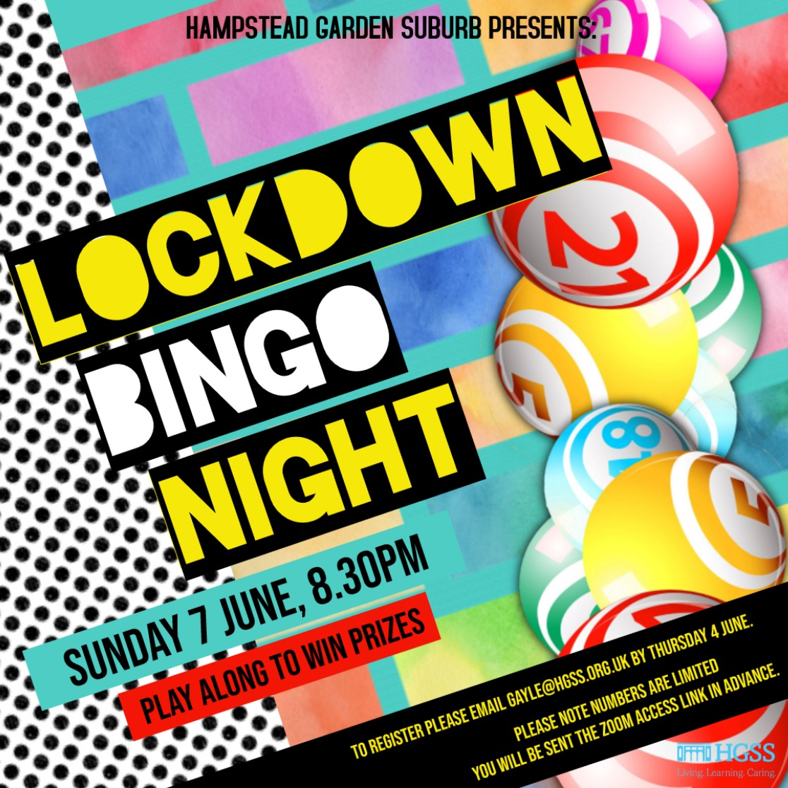 HGSS Lockdown Bingo Night @ Online (Contact Gayle for link)