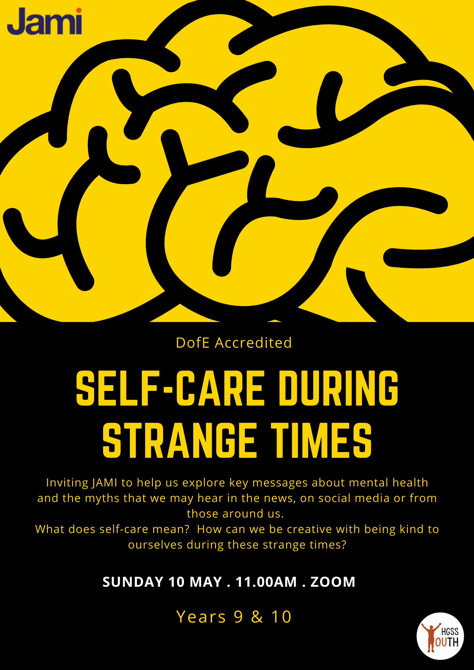 Self Care During Strange Times- Youth @ Online
