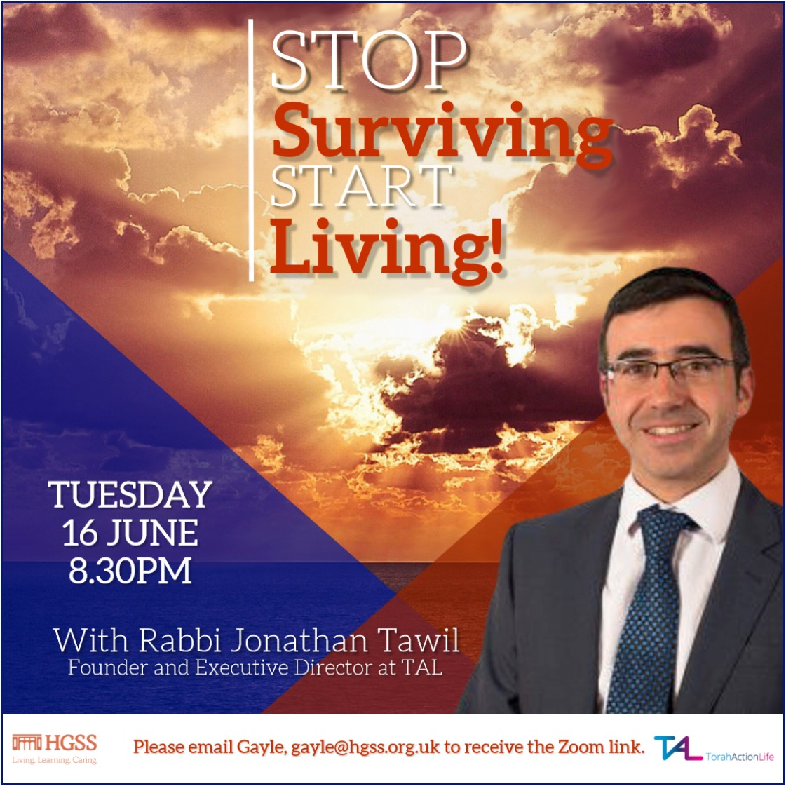Stop Surviving & Start Living @ Online (Contact Gayle for link)