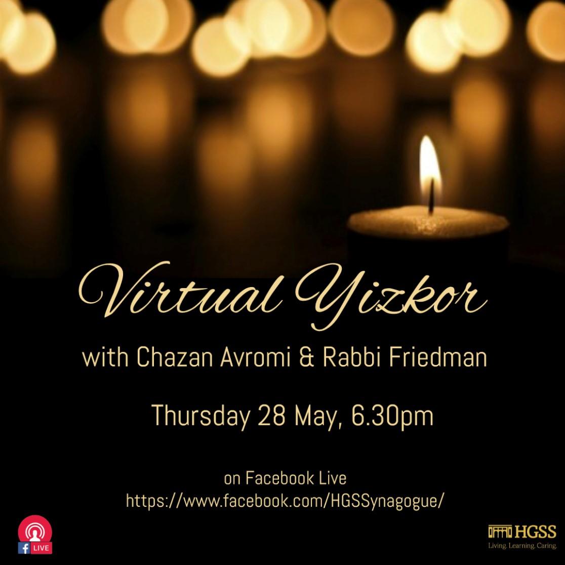 Virtual Yizkor @ Online