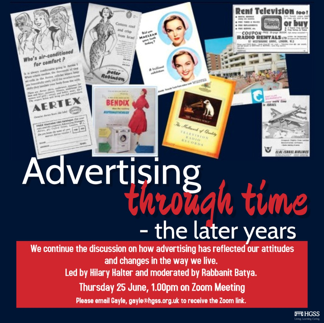 Advertising through time - the later years @ Online (Contact Gayle for link)
