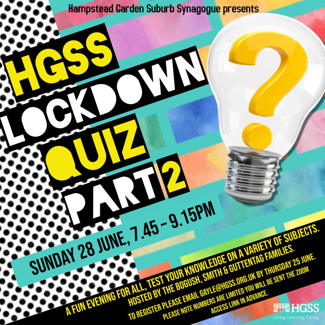 HGSS Lockdown Quiz part 2 @ Online (Contact Gayle for link)