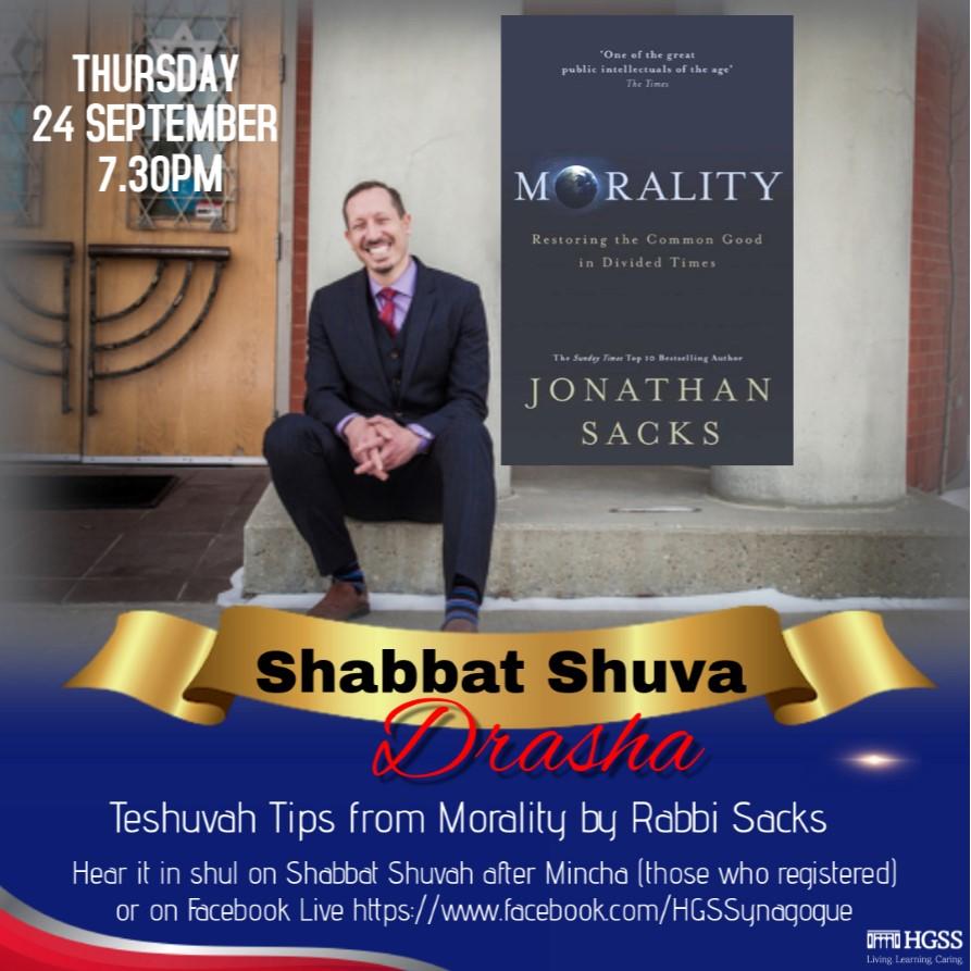 Shabbat Shuva Drasha @ Online