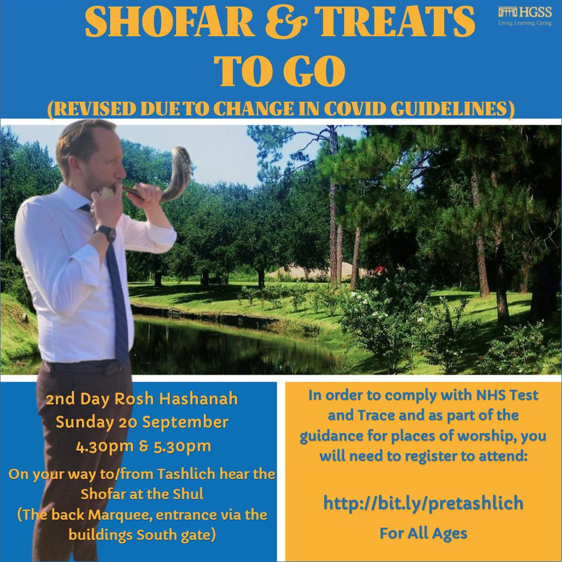 Shofar & Treats to Go @ Meet at the Shul | London | England | United Kingdom
