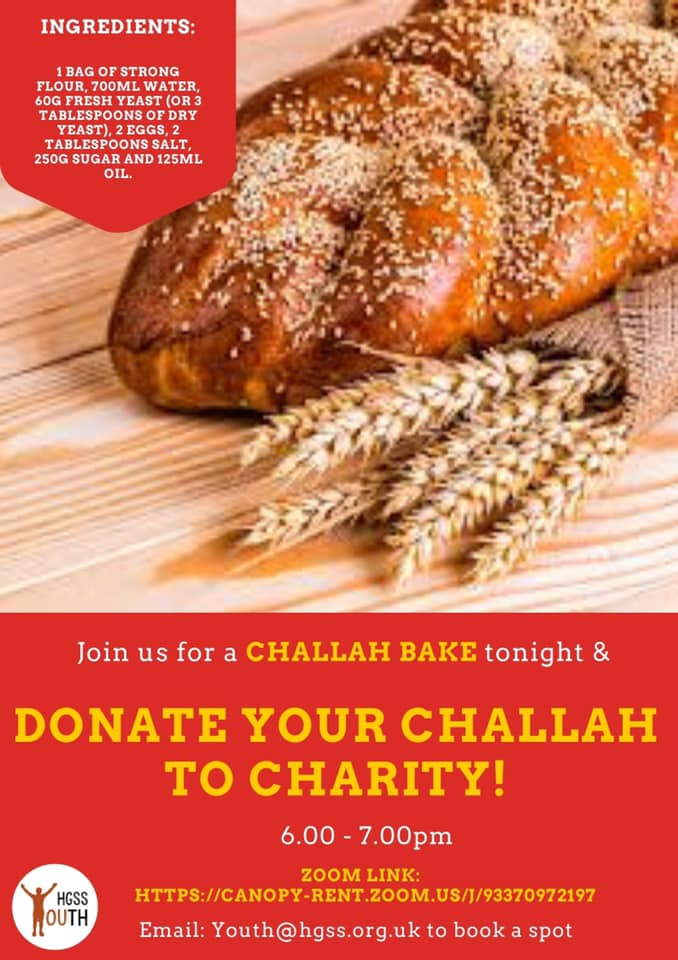 Challah Bake- Youth @ Hall