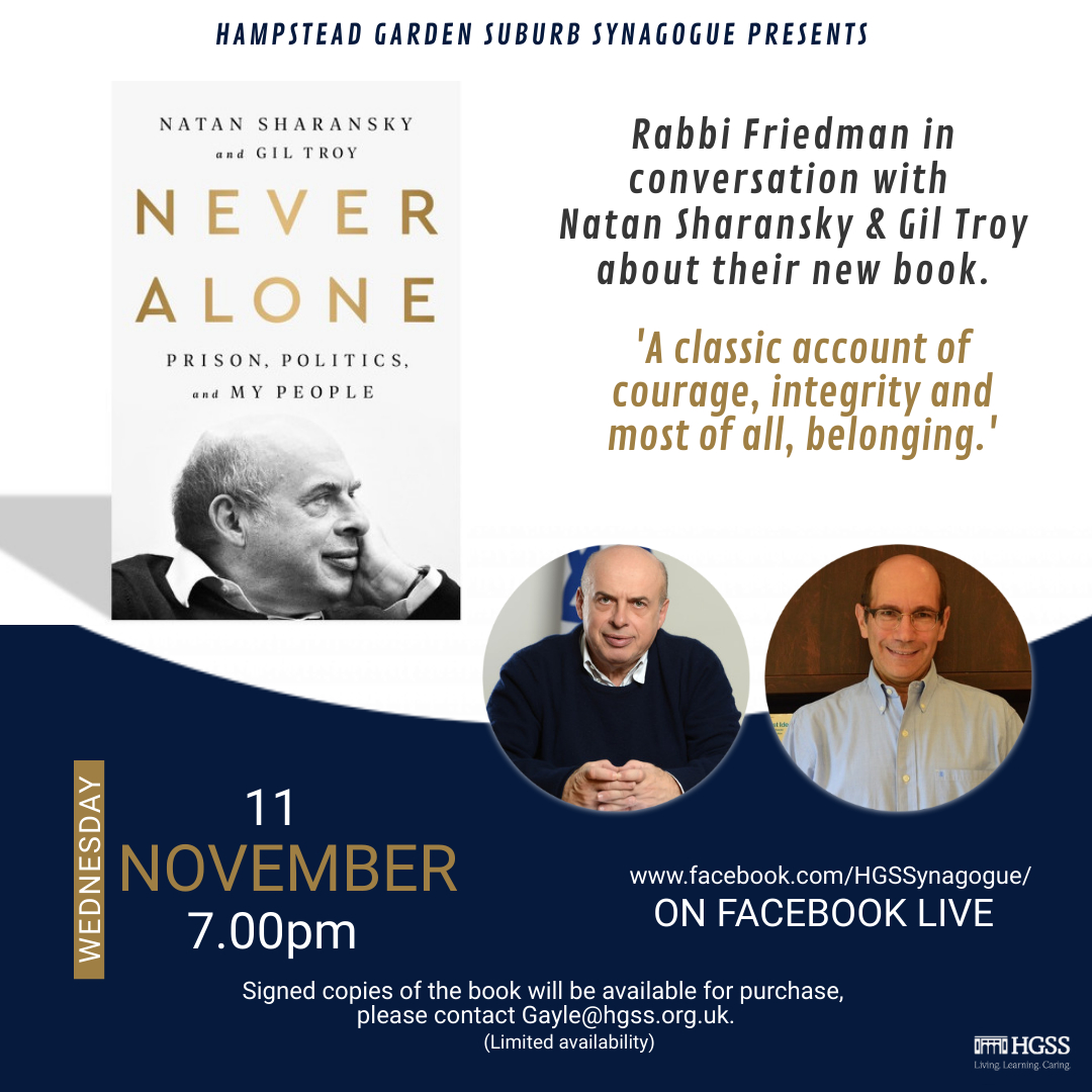 In conversation with Natan Sharansky & Gil Troy @ Online